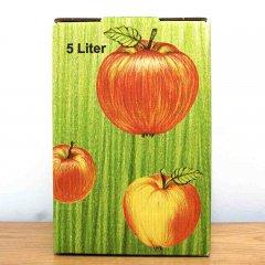 In den Größen 3 l, 5 l und 10 l und dazupassende Kartons in grün oder Apfeldekor erhältlich